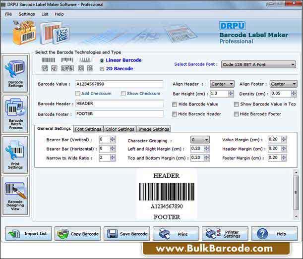 Windows 7 Bulk Barcode Generator Software 7.3.0.1 full